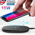 10W Qi Wireless Charger Mat Fast Charging Pad For iPhone X 8 Samsung S10 9 8 7