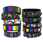 Reflective Wide Colorful Dog Collar Inner Padded Adjustable Nylon Collar S M L