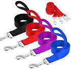 4ft Nylon Pet Dog Walking Lead Puppy Training Leads Tracking Rope Black Red Blue