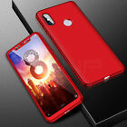 360° Full Cover Case + Tempered Glass For Xiaomi Mi 8 9 A1 A2 Lite Pocophone F1