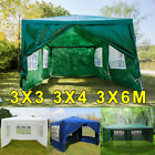 3m-6m Heavy Duty Gazebo Marquee Party Wedding Tent Carport Shelter Canopy Sides