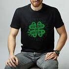 Keep Calm And Lucky On T-Shirt Festival Short Sleeve Tee Unisex Printed T-Shirt image
