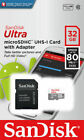 Sandisk 16GB 32GB 64GB 128GB Micro SD Class 10 TF Flash SDHC Memory Card Adapter