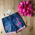 NWT LIPSTIK Girls Denim Embroidered Shorts sz 3T