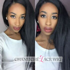 8A Remy Human Hair Wig Italian Yaki Full Lace Wig Kinky Straight Lace Front Wigs