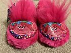 Toddler Girl Troll Slippers - Princess Poppy - Size 5/6 image