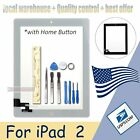 For iPad 2 Front Glass Digitizer  Touch Screen Glass  Home Button White Black