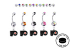 Philadelphia Flyers Silver Belly Button Navel Ring - Customize Gem Color - NEW $12.99 USD on eBay