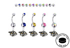 Nashville Predators Silver Belly Button Navel Ring - Customize Gem Color - NEW $19.99 USD on eBay