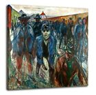 Edvard Munch - Workers On Their Way Home 1914 Poster Canvas Fine Art Print 52