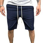 Summer Men's Striped Sports And Fitness Five Pants Casual Pants New BY