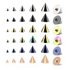 Spare CONES for Belly / Nipple / Tragus / Labret / Tongue / Ear Piercings