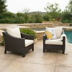 Antibes Outdoor Wicker Club Chair - Set of 2