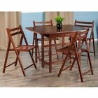 Winsome Trading Taylor 5 Piece Drop Leaf Table Folding Chair Set