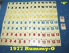 Individual RUMMY-O by Cardinal -- 1977 Replacement Tiles--U-Choose--LOOK!