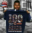 100 years anniversary of CHICAGO BEARS T-Shirt Signature For Fan Footbalt Navy $13.99 USD on eBay