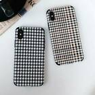 Houndstooth Relief TPU Phone Case Cover For iPhone X XR XS Max 8 7 6 6s Plus