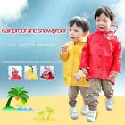 Unisex Boys Girls Kids Children Dinosaur Raincoat Umbrella Kindergarten Coat
