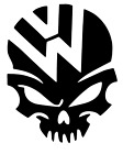 VW Skull Volkswagen Decal jetta gti beetle golf window Car Sticker Vinyl Decal