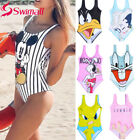 2019 New Sexy Women One Piece 3D Print Cartoon Strap Backless Swimsuit
