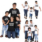 US Stock Mama Kids Papa Bear Family Matching Outfit T-Shirt Baby Dad Son Clothes