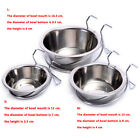 UK Pet Stainless Steel Hang-on Bowls Dog Crate Cage Food Water  Hanging Bowl