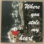 "Custom Valentine Anniversary Canvas ""Where You Stole My Heart"" Sat. Imagery"