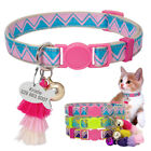 Breakaway Personalized Pet Cat Collars ID Tag Engraved for Small Dog Kitten Bell