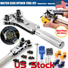 Watch Band Back Case Opener Fixer Repair Tool Kit Watchmaker Screw Cover Remover image