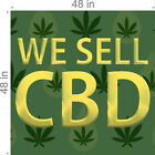 WE SELL CBD (CHOOSE YOUR SIZE) PERF WINDOW VINYL DECAL NEW