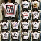 Внешний вид - Fashion Tee Women Ladies Short Sleeve T Shirt Tops Blouse Heart Printed Casual
