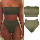Women High Waist Bikini Swimsuit Push Up 2 Piece Set Beach Bathing Suit Swimwear