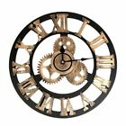 Industrial Style Large Wall Clock Vintage Clock European Steampunk Gear Wall