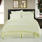 FITTED SHEET/FLAT/DUVET COVER 1000TC EGYPTIAN COTTON IVORY SOLID US~QUEEN,TWIN image