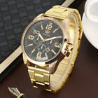 Mens Casual Quartz Watch Round Stainless Dial  Wristwatch with Date Display image