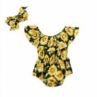 Newborn Infant Baby Girl Flower Romper Bodysuit Jumpsuit Outfit Clothes US STOCK