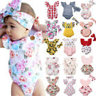 Kyпить Newborn Infant Baby Girl Flower Romper Bodysuit Jumpsuit Outfit Clothes US STOCK на еВаy.соm
