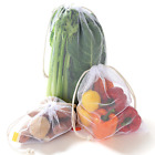 NZ Home Eco Reusable Produce Bags, Washable, See Through Mesh, Tare Weight, 5