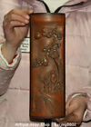 28CM Fine Old Chinese Bamboo Dynasty Carved Pine Tree People Kid Paper Weight