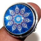 D24333 Fancy Glass 925 Sterling Silver Plated Ring Us 8.5