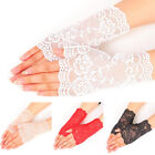Women's Evening Bridal Wedding Party Dressy Lace Fingerless Gloves Mitten GX
