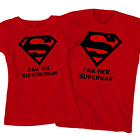 Superman and Superwoman Couples T-Shirts, Husband and Wife Matching His and Hers