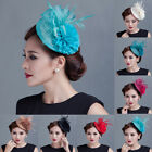 Women Fascinators Hair Clip Hairpin Hat Feather Veil Cocktail Wedding Tea Party