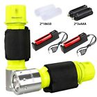 Underwater 100m Diving Scuba T6 LED Flashlight Waterproof 18650 Torch Lamp Light