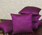 Set of 5 Purple Box Quilted Cushion Covers 40X40 cm (16X16 inches)