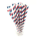 50pcs Paper Drink Gold Striped Drinking Straws for Party Baby Shower Wedding Hot