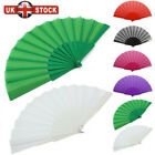 Spanish Fabric Folding Hand Held Fans Portable Fans Dances Fan Party Wedding NEW
