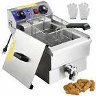 2500/5000W Electric Countertop Deep Fryer Commercial Basket French Restaurant US photo