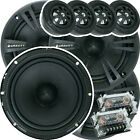 Two Pairs of Gravity 6.5-Inch 2-Way Car Component Speaker Audio System 6-1/2in