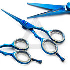 Light Weight Barber Salon Hairdressing & Haircutting Scissor Blue Coated